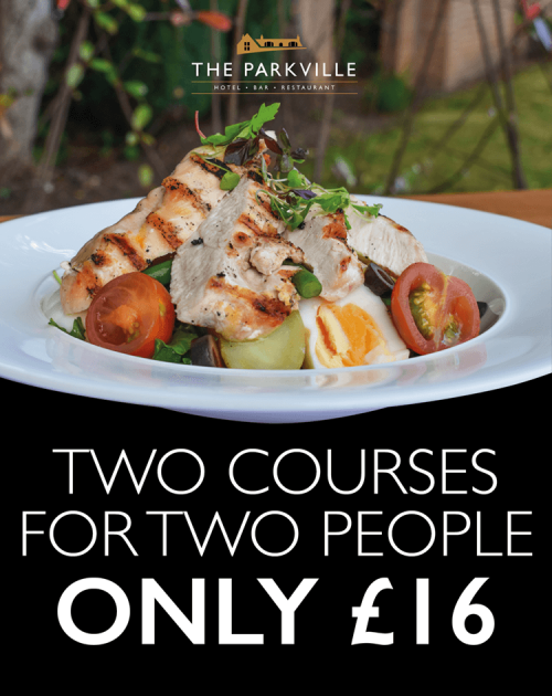 2 courses for 2 people at the parkville hotel in blantyre